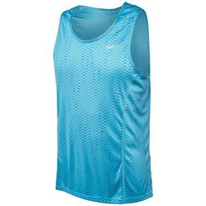 Nike Dri-Fit Miler Fuse Tank Top Blue Men's Large
